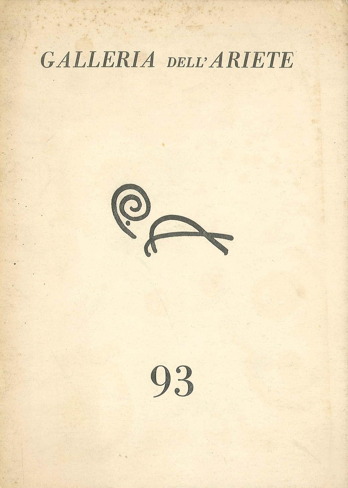 Cover - Castellani, Gillo Dorfles, 1963, Galleria dell'Ariete, Milano