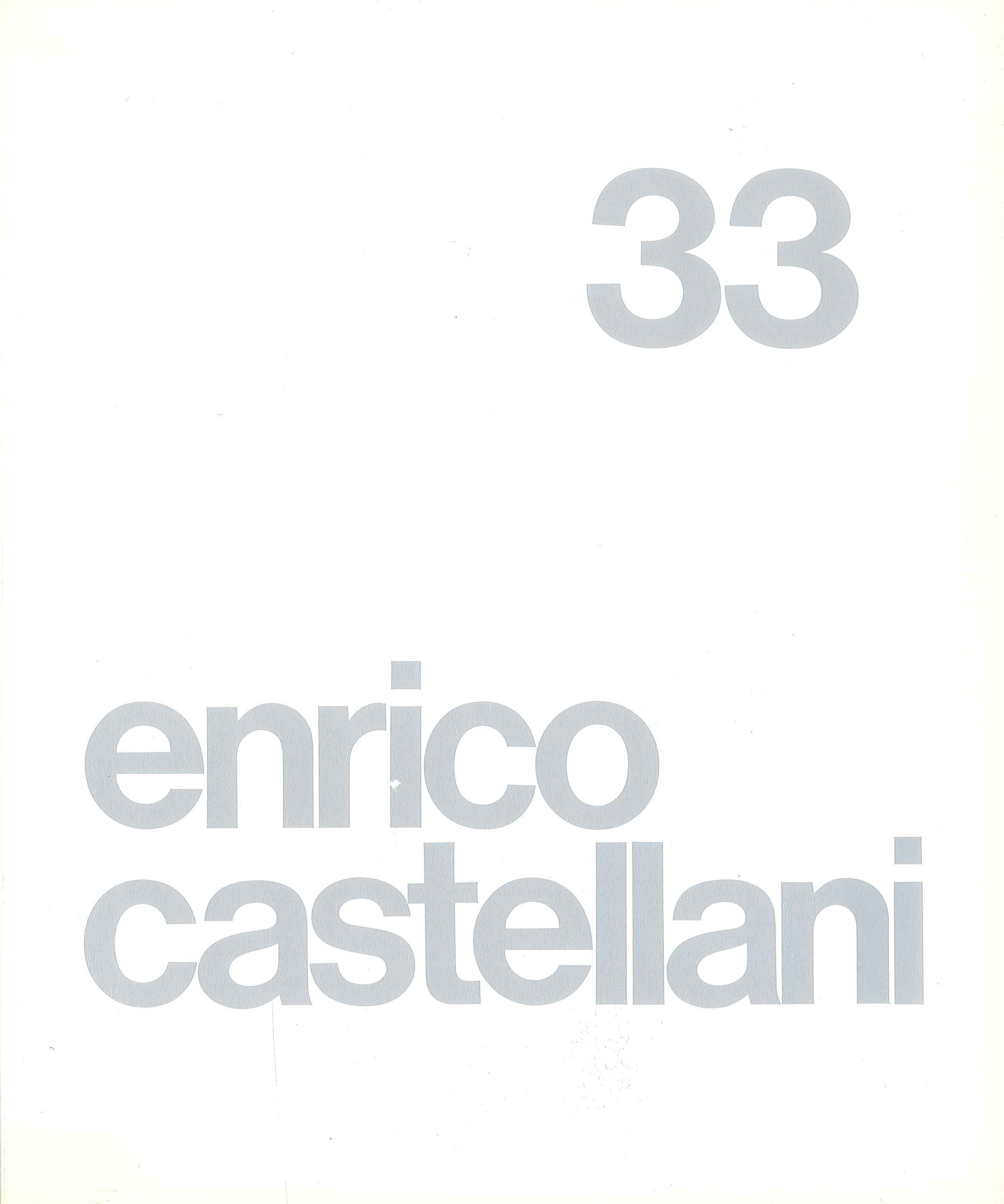 Cover - Enrico Castellani, Adachiara Zevi, 1986, Lorenzelli Arte, Milano