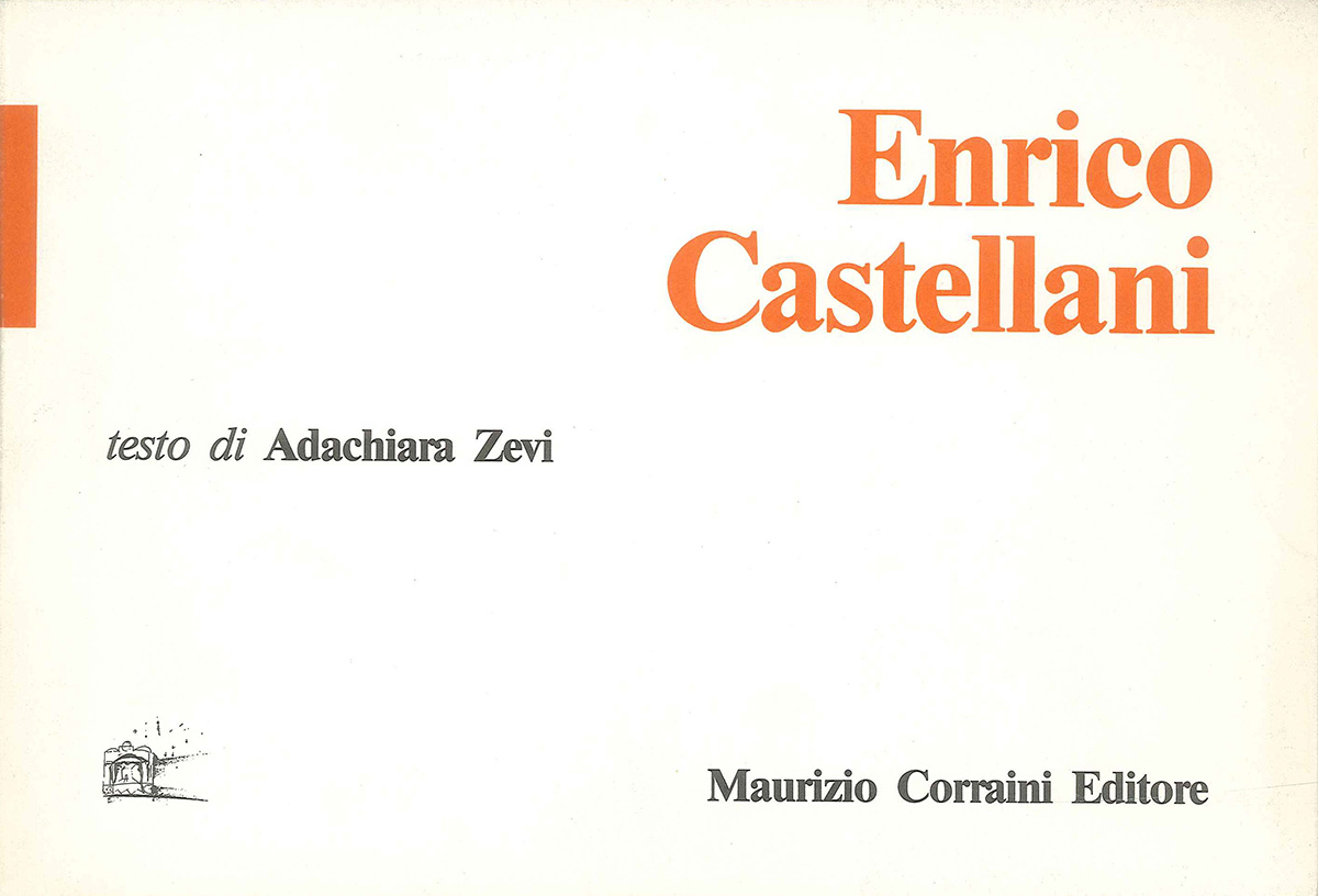 Cover - Enrico Castellani, Adachiara Zevi, 1988, Maurizio Corraini Editore, Mantova