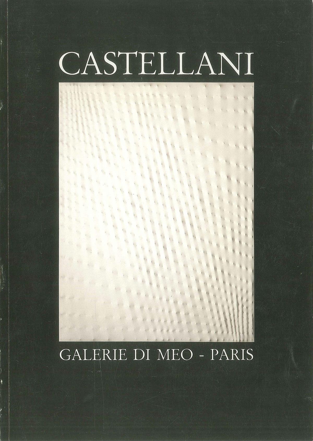 Cover - Castellani, Adachiara Zevi, 1988, Galerie Di Meo, Edizioni Elora C. Elessi, Parigi (FRA)