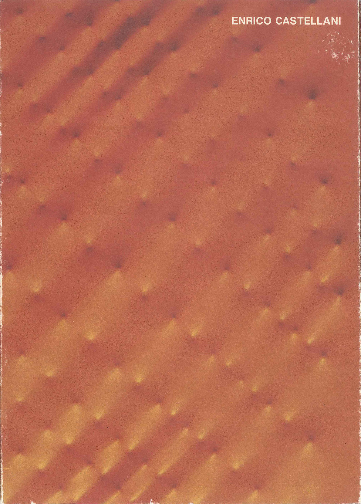 Cover - Enrico Castellani, Elena Pontiggia, 1989, Artevalente, Finale Ligure (SV)