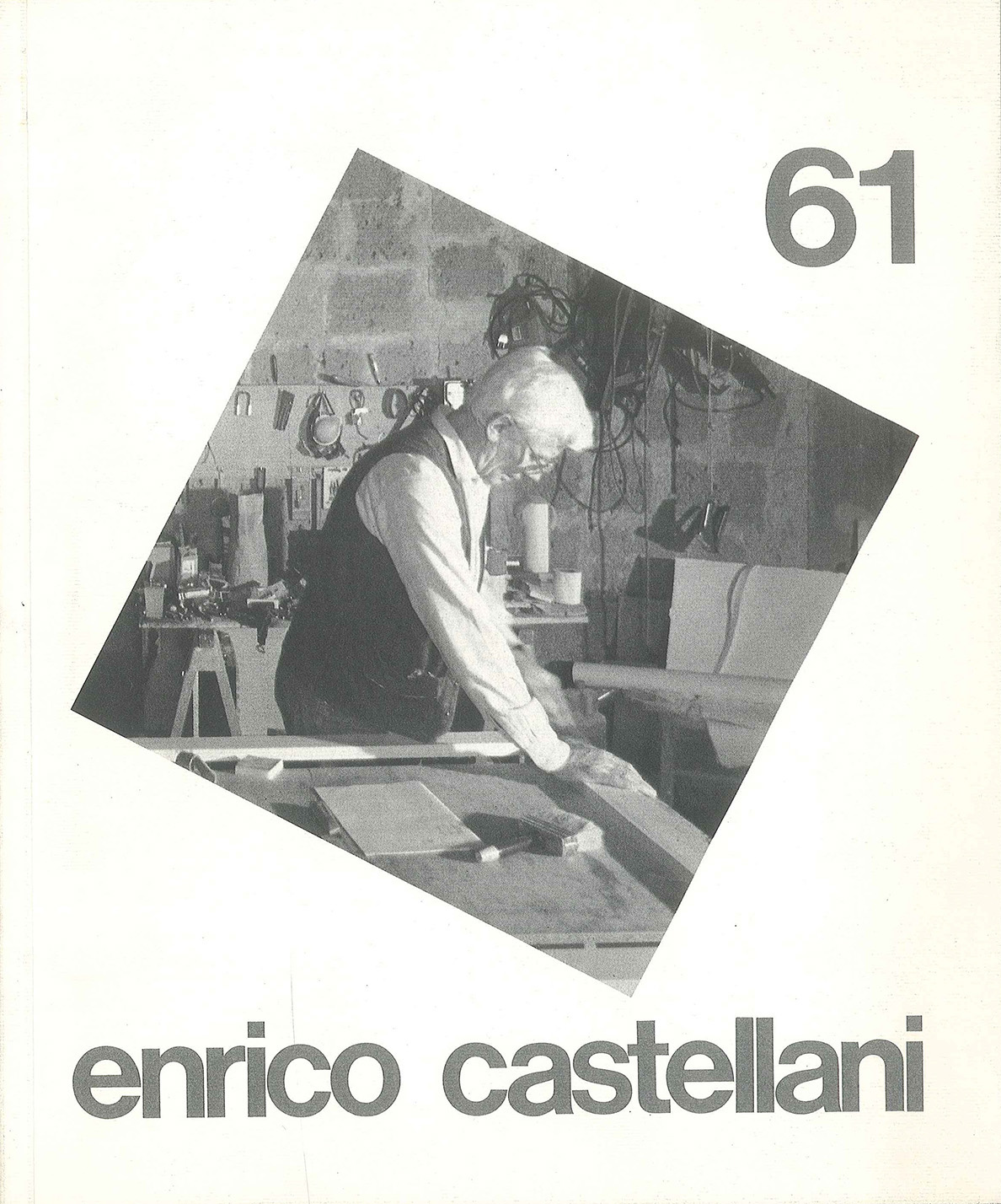 Copertina - Enrico Castellani, Walter Guadagnini, Gillo Dorfles, Adachiara Zevi, 1991, Lorenzelli Arte,Milano