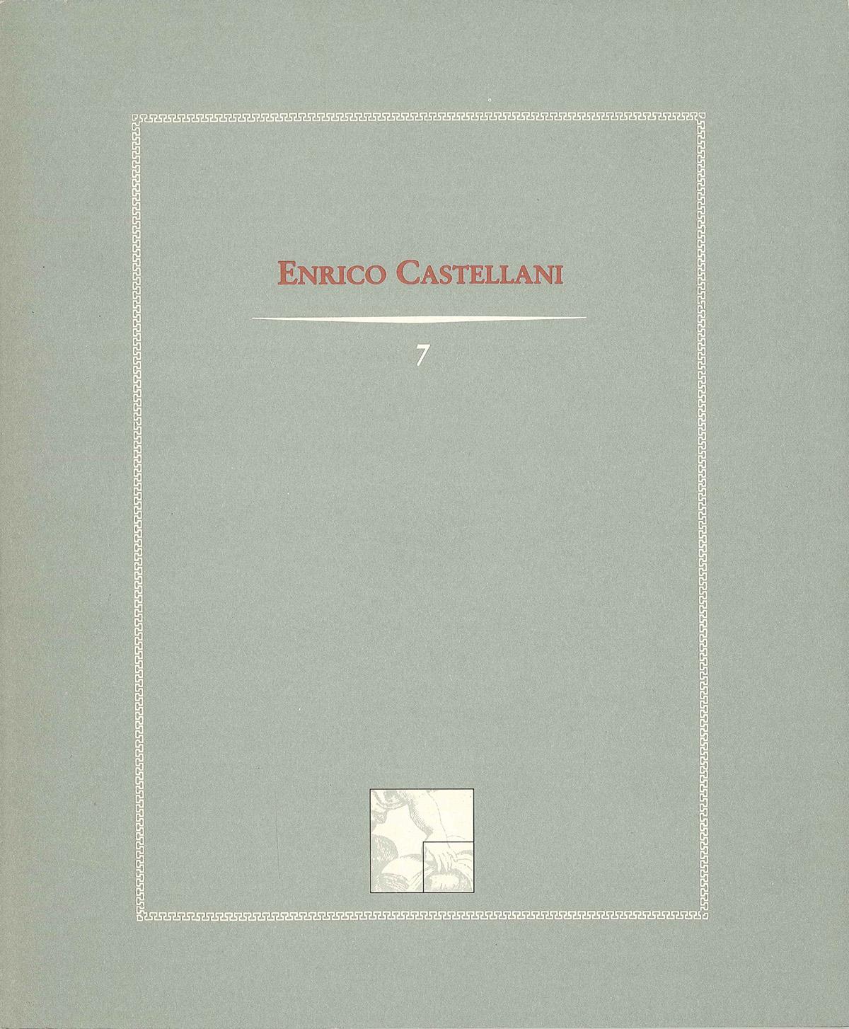 Copertina - Enrico Castellani, Gillo Dorfles, Adachiara Zevi, 1991, Edizioni Netta Vespignani, Roma