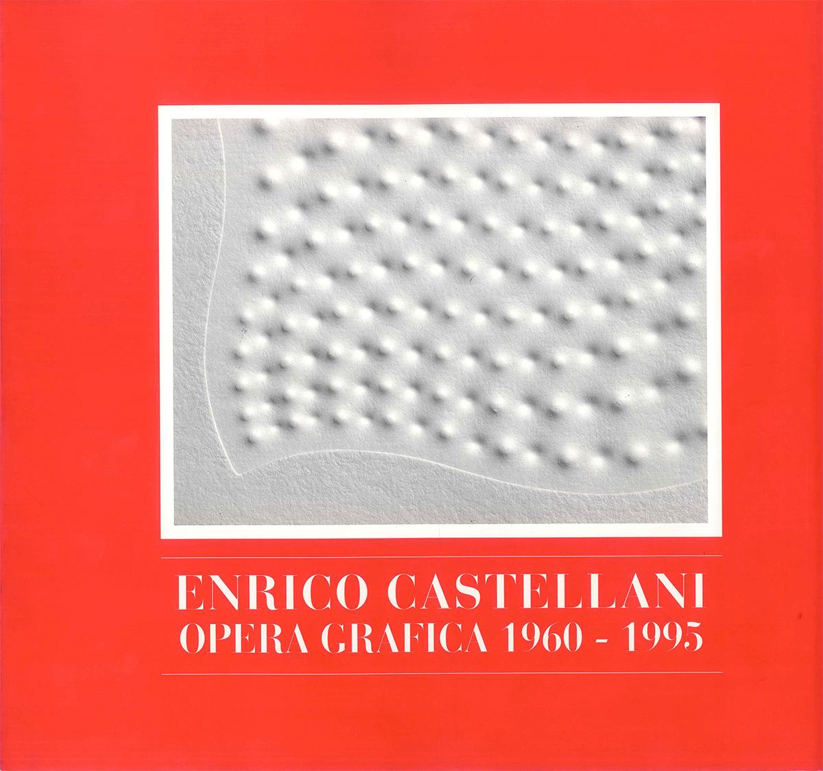 Cover - Enrico Castellani - Opera grafica 1960 - 1995, Leonardo Magini, 1996, Corraini Editore, Mantova