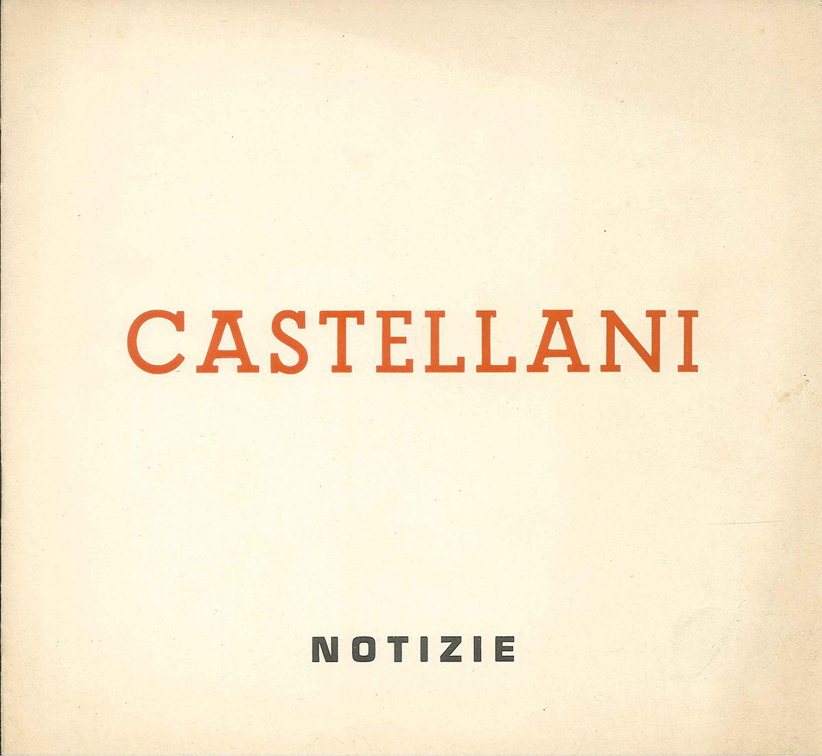Copertina - Castellani, Carla Lonzi, 1964, Galleria Notizie, Torino