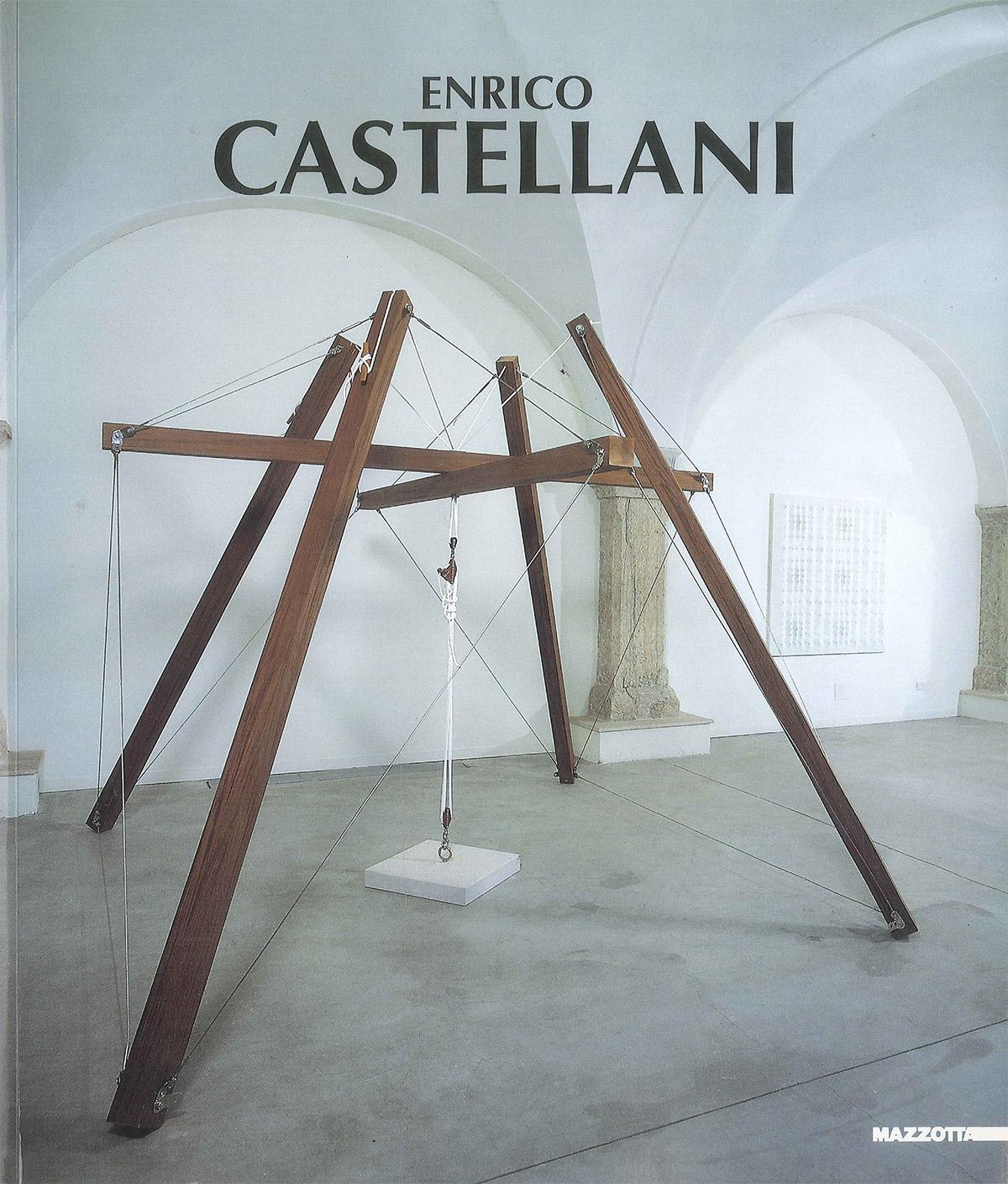 Copertina - Enrico Castellani, Vittoria Coen, 1999, Galleria Civica di Arte Contemporanea, Trento, Edizioni Mazzotta, Milano