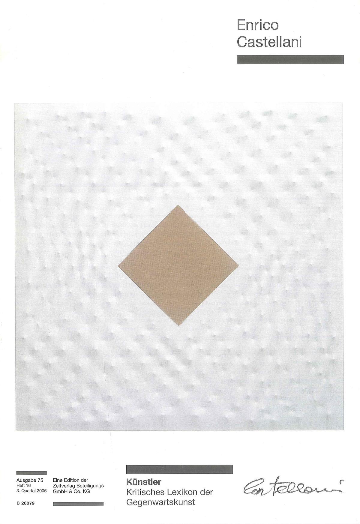 Copertina - Enrico Castellani, Iris Simone Engelke, 2006, Zeitverlag Beteiligungs GmbH & Co., Monaco (DEU)