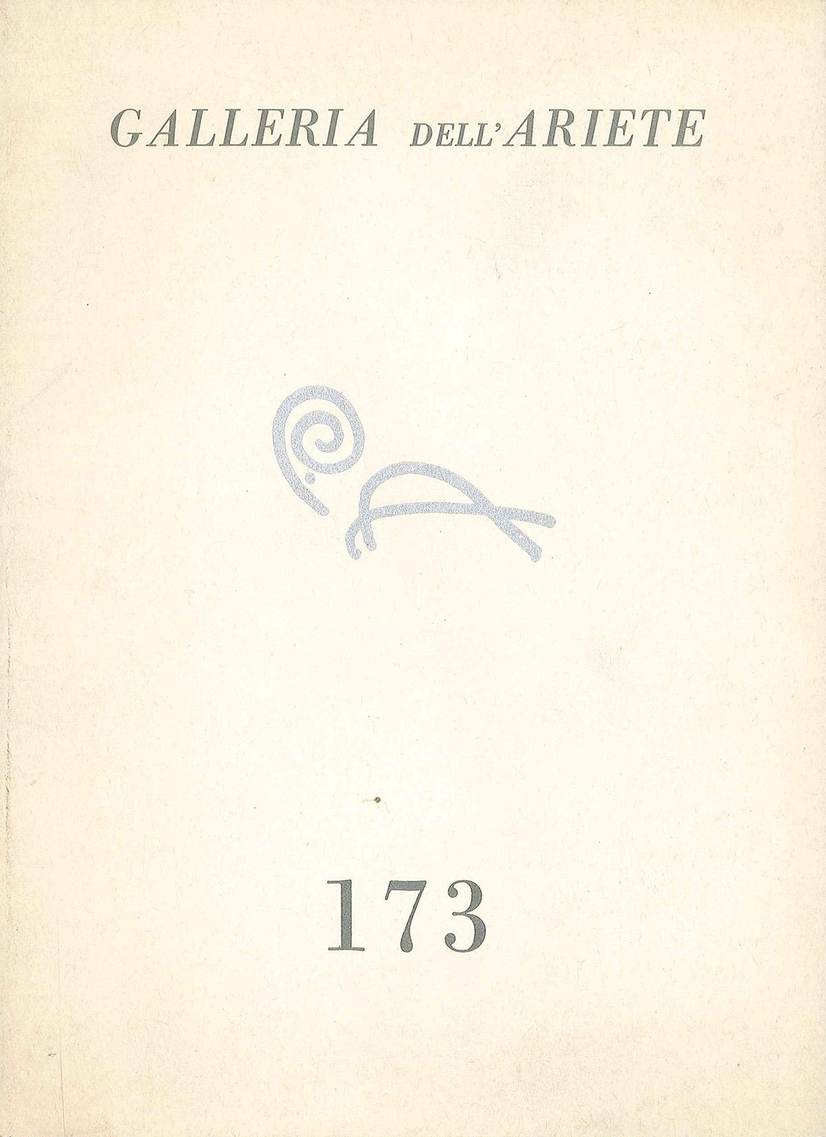 Copertina - Castellani, 1972, Galleria dell'Ariete, Milano, Getty - Collection Inventories and Finding Aids