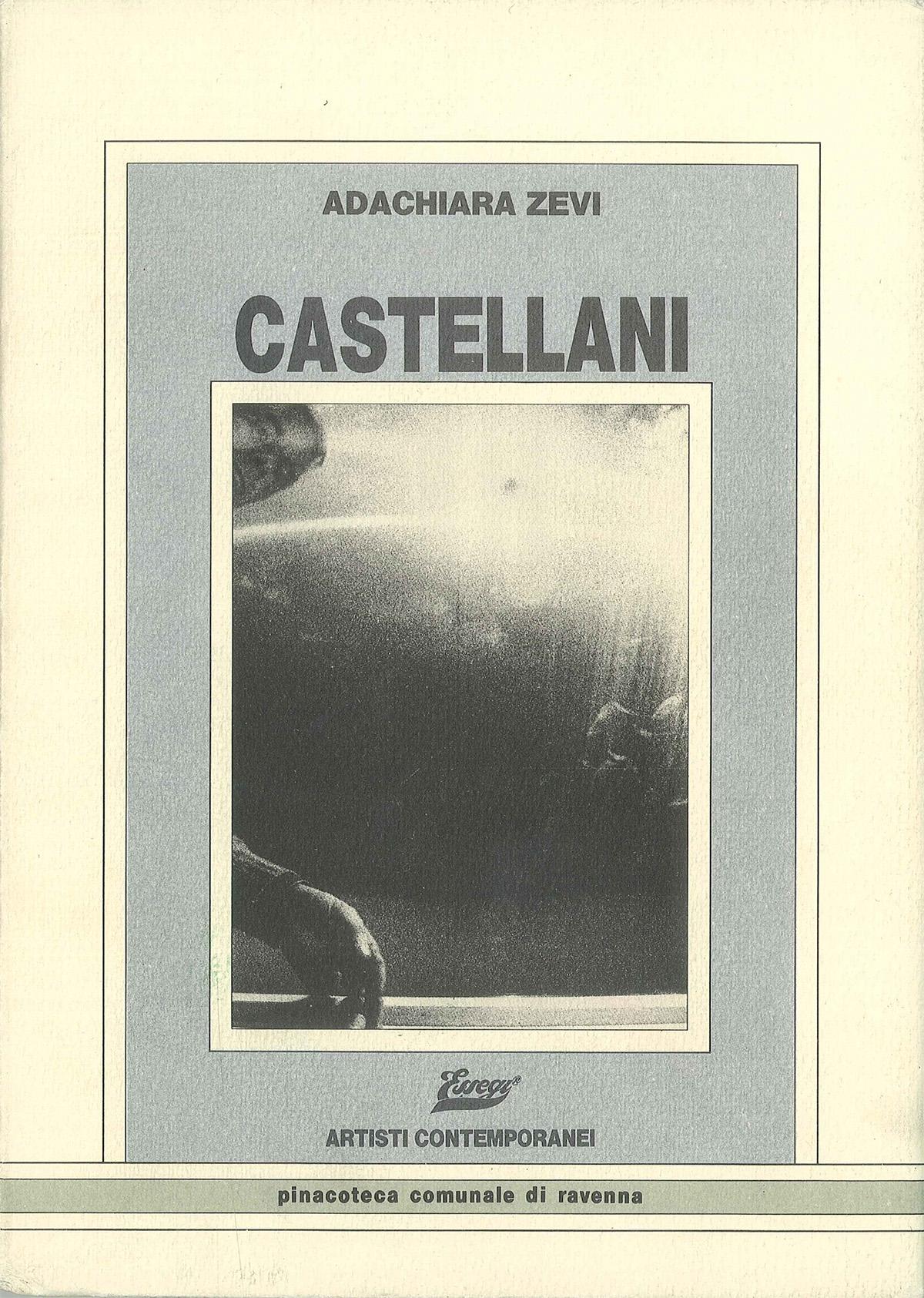 Copertina - Castellani, Adachiara Zevi, 1984, Pinacoteca Comunale - Loggetta Lombardesca, Essegi Edizioni, Ravenna