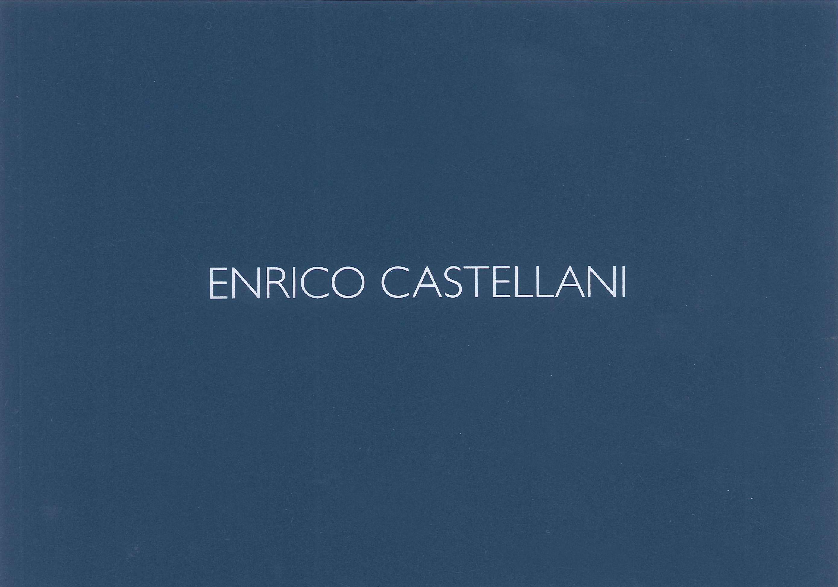 Copertina - Enrico Castellani Opere su carta, Irina Zucca Alessandrelli, 2015, Galleria Matteo Lampertico, Milano