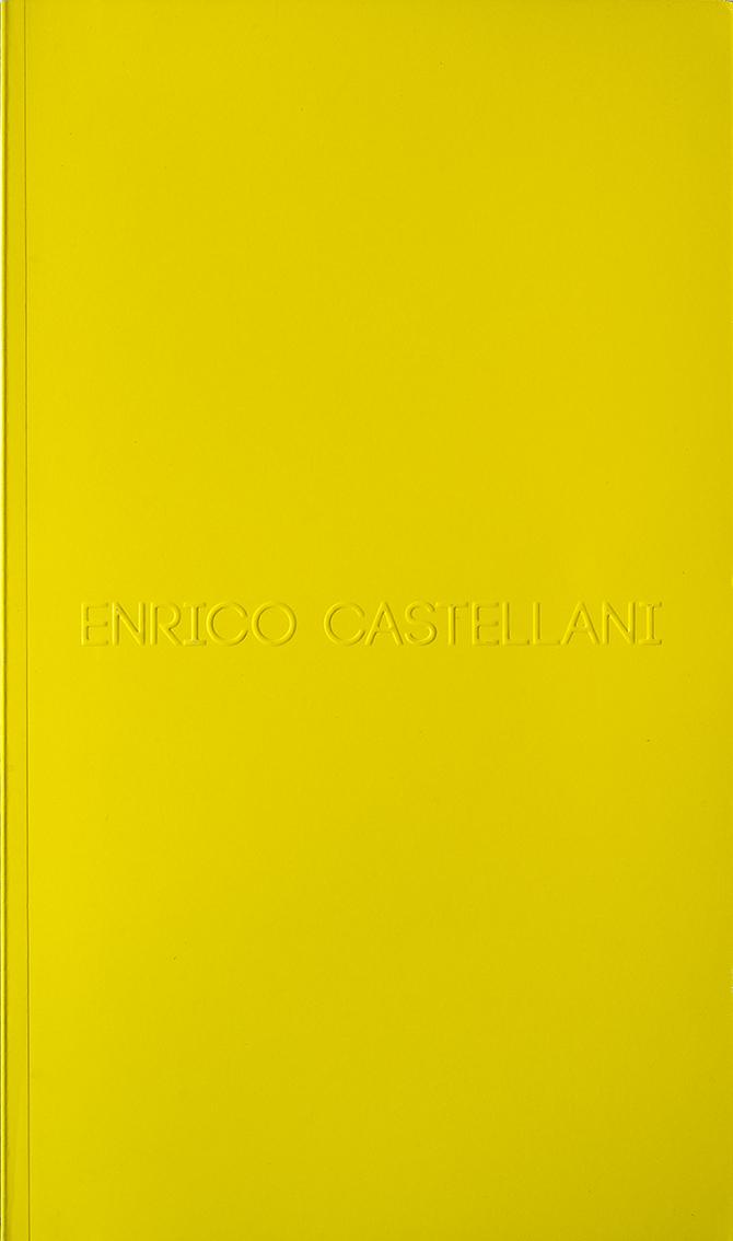 Cover - Enrico Castellani, Hans Ulrich Obrist, 2010, Gallery Seomi, Seul (KOR)