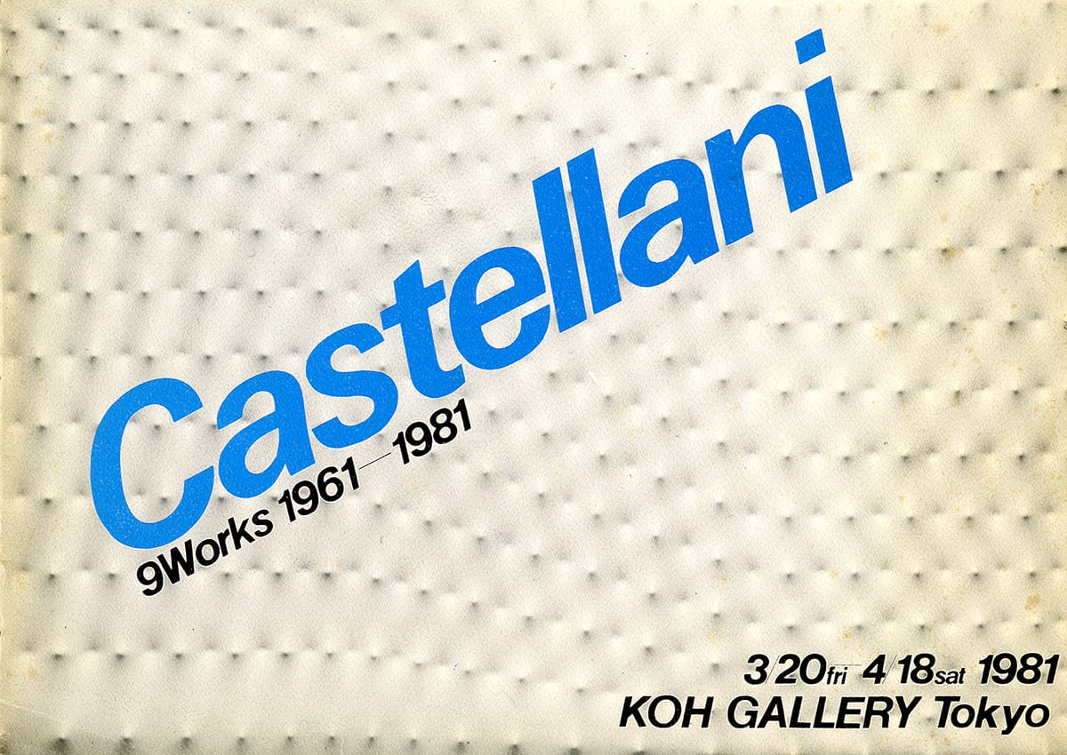 Copertina - Castellani 9 Works 1961-1981, 1981, Koh Gallery Tokyo, Tokyo